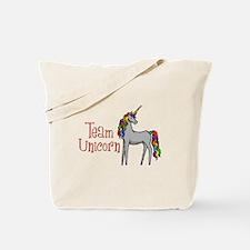 Team Unicorn Rainbow Tote Bag