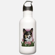 Mothers Day - Pink Tulips Water Bottle