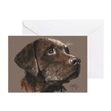 Chocolate Lab Lovin' Greeting Cards (Pk of 10)