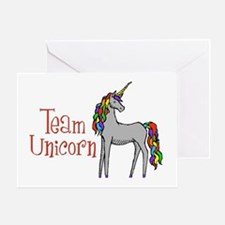 Team Unicorn Rainbow Greeting Card