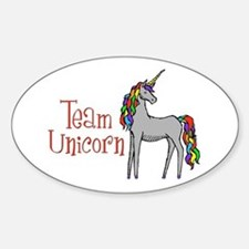 Team Unicorn Rainbow Decal