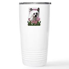Mothers Day - Pink Tulips Travel Mug