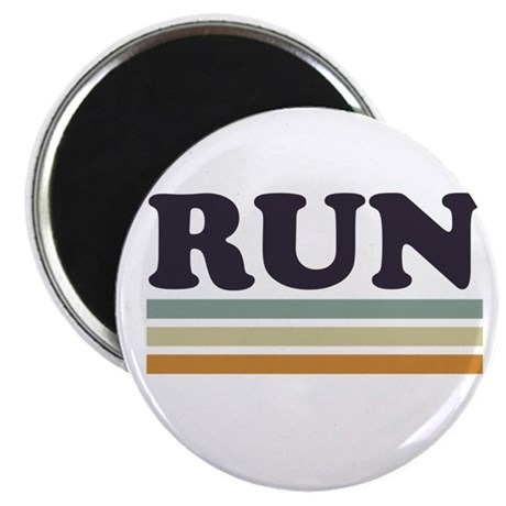 """Retro RUN 2.25"""" Magnet (100 pack)"""