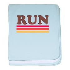 Retro RUN baby blanket
