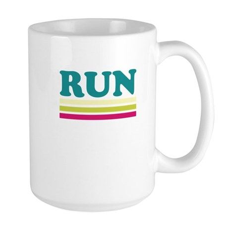 Retro RUN Large Mug
