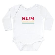 Retro RUN Long Sleeve Infant Bodysuit