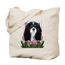 Mothers Day - Pink Tulips Tote Bag