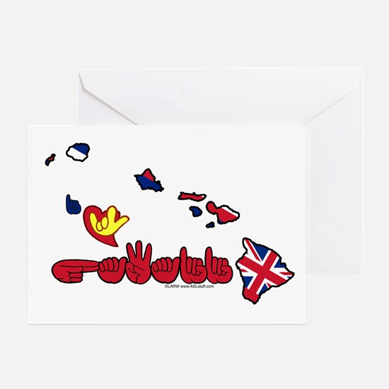 ILY Hawaii Greeting Card