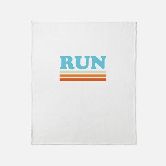 Retro RUN Throw Blanket