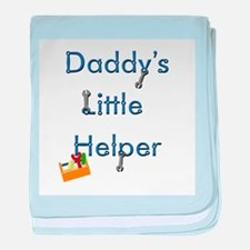 Daddys Little Helper baby blanket