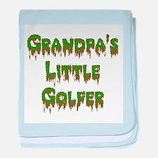 Grandpas Little Golfer baby blanket
