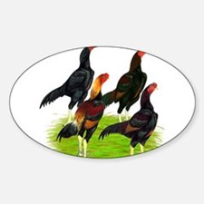Oriental Gamefowl Sticker (Oval)