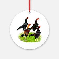 Oriental Gamefowl Ornament (Round)