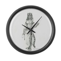 furry steampumk doctor Large Wall Clock