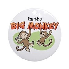 Big Sister - Monkey Ornament (Round)