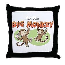 Big Sister - Monkey Throw Pillow