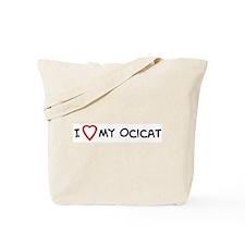 I Love My Ocicat Tote Bag