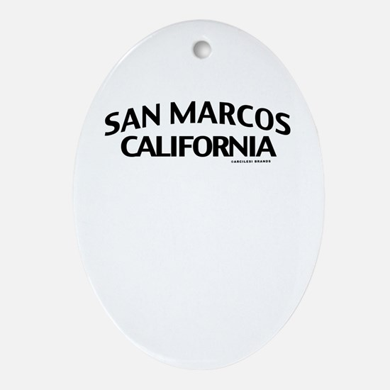 San Marcos Ornament (Oval)