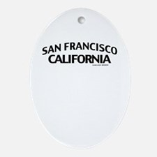 San Francisco Ornament (Oval)