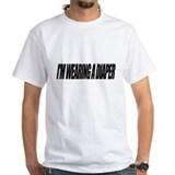 Adult diaper Mens Classic White T-Shirts