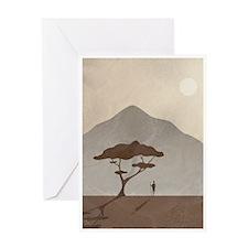 African Tribesman Greeting Card