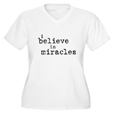"""""""Miracles"""" Words Only T-Shirt"""