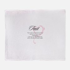 Proverbs 3:5-6 Throw Blanket