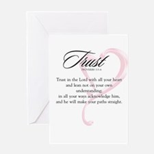 Proverbs 3:5-6 Greeting Card