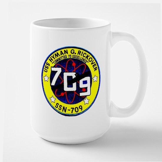 USS Hyman Rickover SSN 709 Large Mug