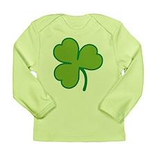 Pretty Green Shamrock Long Sleeve Infant T-Shirt