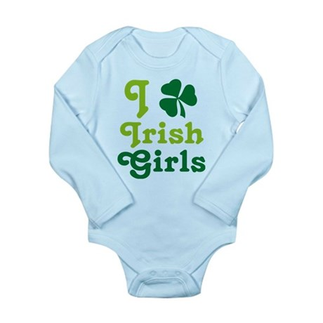 I Love Irish Girls Long Sleeve Infant Bodysuit