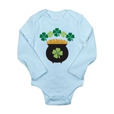 Lucky Irish Pot Of Gold Long Sleeve Infant Bodysui