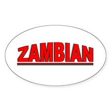 """""""Zambian"""" Oval Decal"""