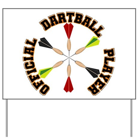 Dartball Player Yard Sign