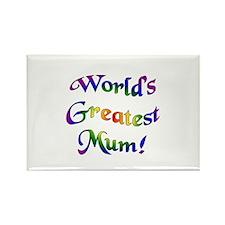 World's Greatest Mum Rectangle Magnet