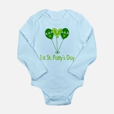 1st St Pattys Day Long Sleeve Infant Bodysuit