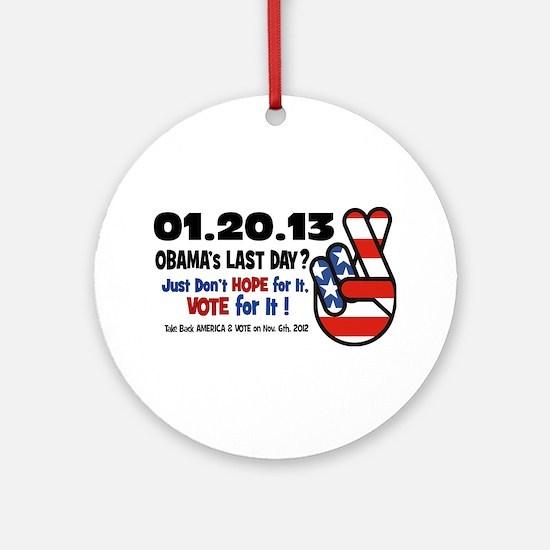 Obama's Last Day Ornament (Round)
