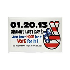 Obama's Last Day Rectangle Magnet