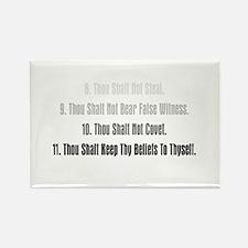 11th Commandment Rectangle Magnet
