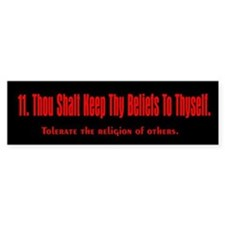 11th Commandment Bumper Bumper Sticker