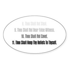11th Commandment Oval Decal