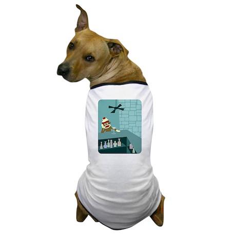Sock Monkey Martini Bar Dog T-Shirt