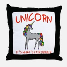 Unicorn It's What's For Dinner Throw Pillow