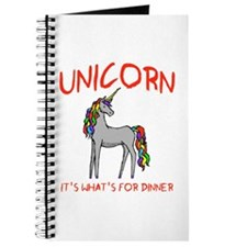 Unicorn It's What's For Dinner Journal