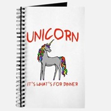 Unicorn It's What's For Dinner Journal
