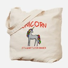 Unicorn It's What's For Dinner Tote Bag