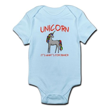 Unicorn It's What's For Dinner Infant Bodysuit