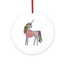 Unicorn Hunter Ornament (Round)
