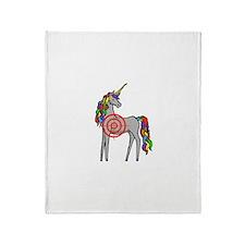 Unicorn Hunter Throw Blanket