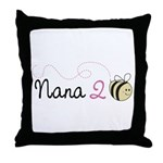 Nana to Bee Throw Pillow